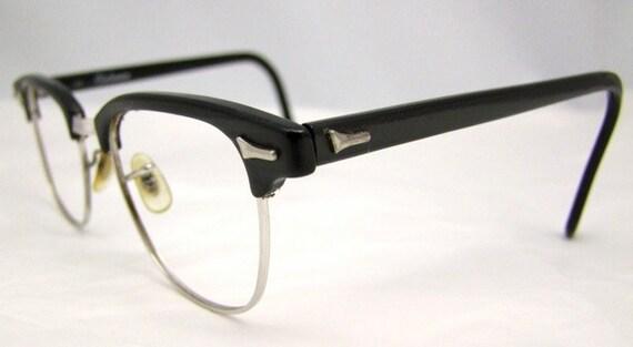 Art craft clubman mens vintage eyeglasses 145 black hornrimmed for Art craft eyeglasses vintage