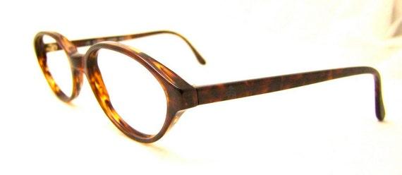 Vintage  Tortoiseshell Oval Lens EYEglasses  Unisex  Made in Italy