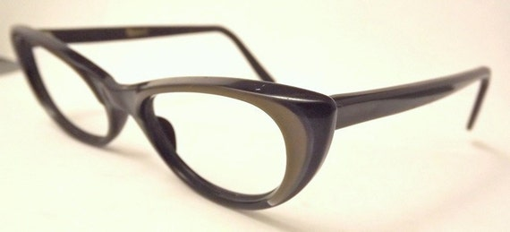 SALE , Rare 1950S Cateye  Layered  Eyeglasses Titmus USA