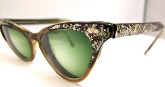 Sale STUNNING  Vintage 1950s  Cats eye  Eyeglasses
