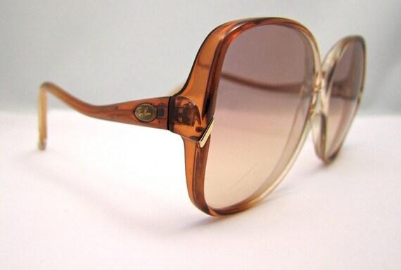Rare 1960s Ray Ban Vintage Sunglasses Womens Big Lens Italy