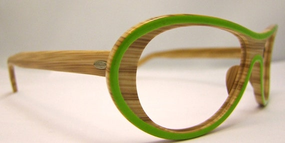 Rare  Vintage Bamboo style  Eyeglasses   By Victory  new old stock,unused.