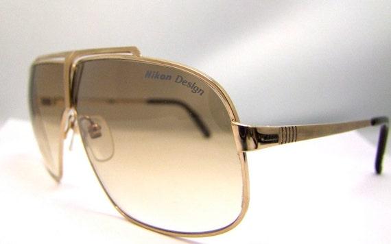 RARE NIKON AVIATOR Sunglasses, Vintage 1970s 80s Japan 3604 Non Prescription Lenses Sunglasses