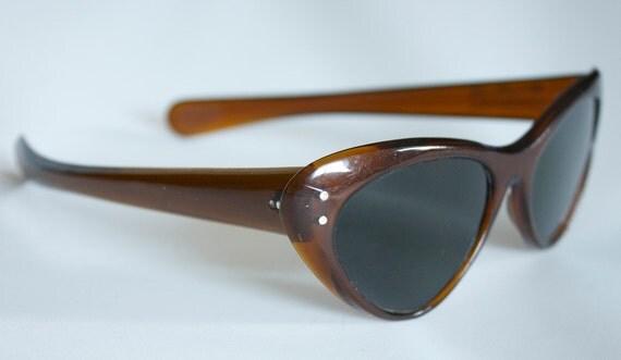 NOS Vintage Italian Cateye Sunglasses 1950s 1960s