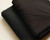 2 Yards, Black Polka Dots Linen, U1027