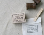 Lovely Laundry Marks Handmade Stamp with Linen and Cotton, U1080