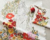 The Secret Garden Illus on Linen blended, WIDE 140cm, U2938