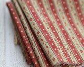 Vintage Style Stripes and Roses on Cotton, 3197