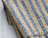 Vintage Style Stripes and Roses Cotton in Blue, 3198