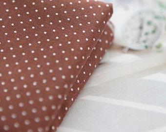 Petit Dots on Cotton Brown, U1440