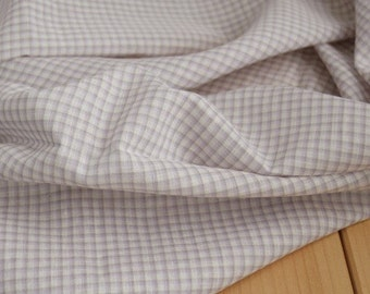 Violet Check Gauze Cotton 150cm WIDE, U1638