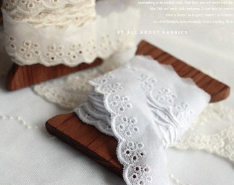 Lovely Floral Hole Cotton lace, U1226