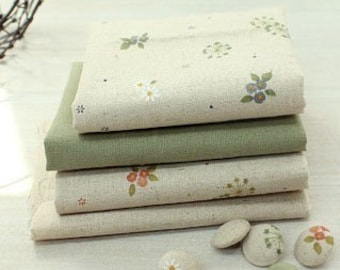 Olivia Series No2 Vintage Floral Linen Set of 4, each Half yard, U1308