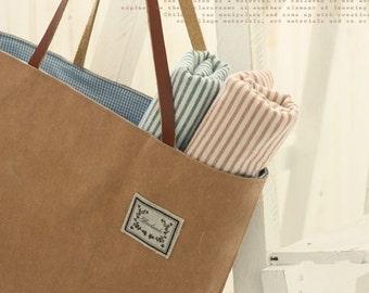3 Cuts of Natural Kraft Paper Fabric, U1061