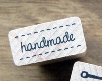 SALE, Vintage Stitch with HANDMADE  Stamp, U1381