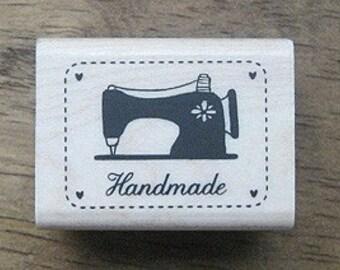 Vintage style BLACK Sewing Machine Stamp, U1378