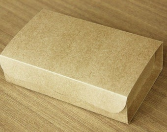 Natural Kraft Arched DIY Boxes, 20.5x12cm with Handmade Label, A set of 4, U1058