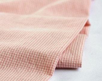 2 Yards 1mm Check Pink Washing Cotton, U1602