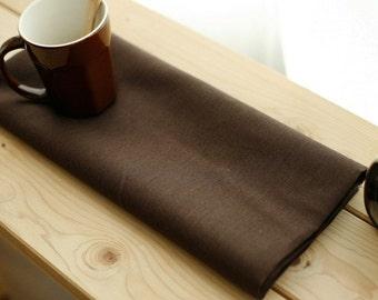 SALE, 3 Yards of De Chocolate Linen Blended WIDE 152cm, U1983
