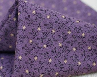 Patch Cotton No.11, Violet Floral Cotton A Yard, U2133