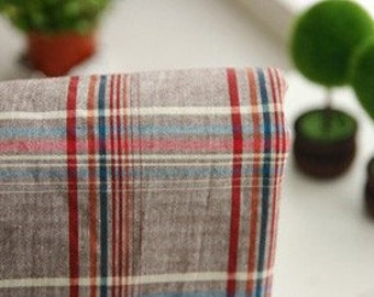 Neat Check on Vintage style Brown Cotton WIDE 147cm, U2220