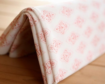 STRONG Coating for Waterproof Red Diamond Floral Linen blended, U2283