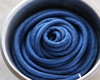 Sale, 5 Yards of Cotton BlueNavy, Edged Piping, U2305