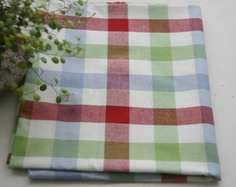 A Yard of Spring RED Check Cotton, U2338