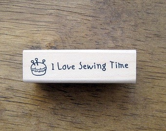 """Sewing Cushion with """"I love sewing time"""" Stamp, U2391"""
