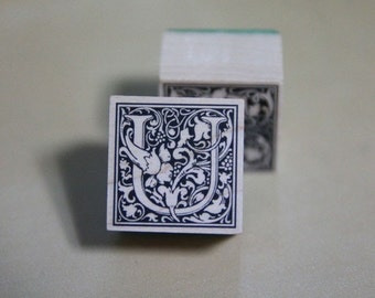 """Lovely Stamp of an arabesque  of """"U"""""""