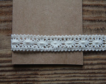 BULK 10 Yards of Ivory Torsion Lace 15mm Linen, U2639