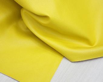 Yellow Leather Fabric 140cm, U2723
