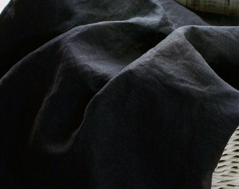 3.5 Yards of Pure Charcoal Linen WIDE 140cm, U2816