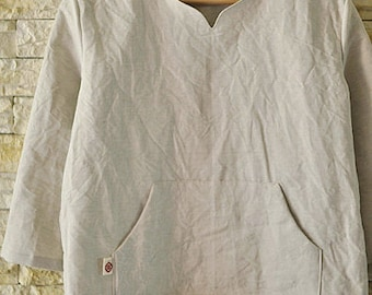 Light Gray Linen WIDE 134cm, U2855