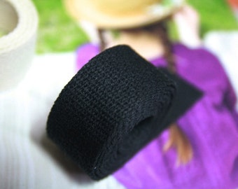 3 yards of Black Cotton Strap 3cm for bag, U2930
