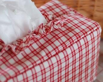 Neat Red Gingham Cotton, U2972