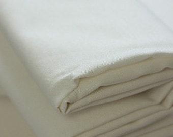 half yard, White Ivory Oxford Cotton WIDE 150cm, U3034