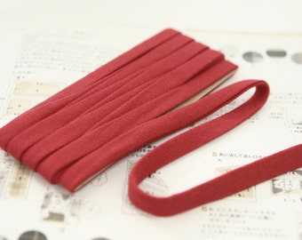 Thin Knit Double fold  Bias, RED, U3050