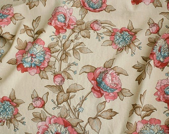 A Yard of Big Peony Grace linen blended WIDE 152cm, U3051