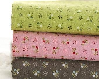Petit floral Cotton FAT Quarters set of 3, U3109