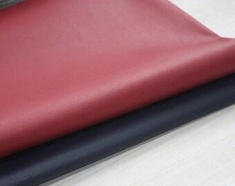 Deep Red Leather Fabric, U3205