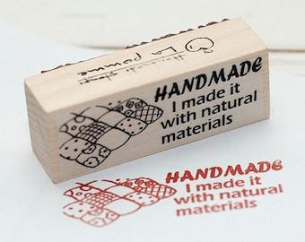 Handmade Stamp with patchwork pattern, U3212