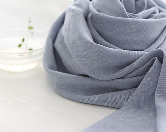 Soft colored linen, Blue Linen blended WIDE 150cm, U3308
