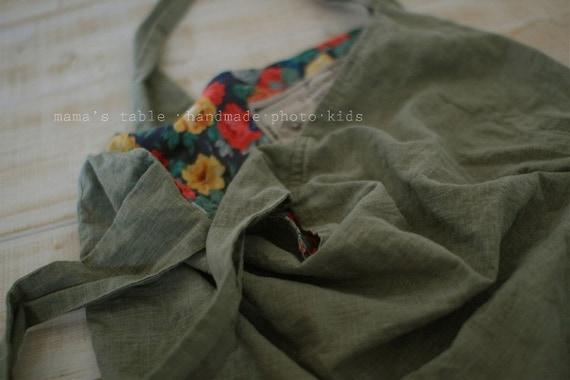 Vintage Khaki Linen blended A Yard U1890