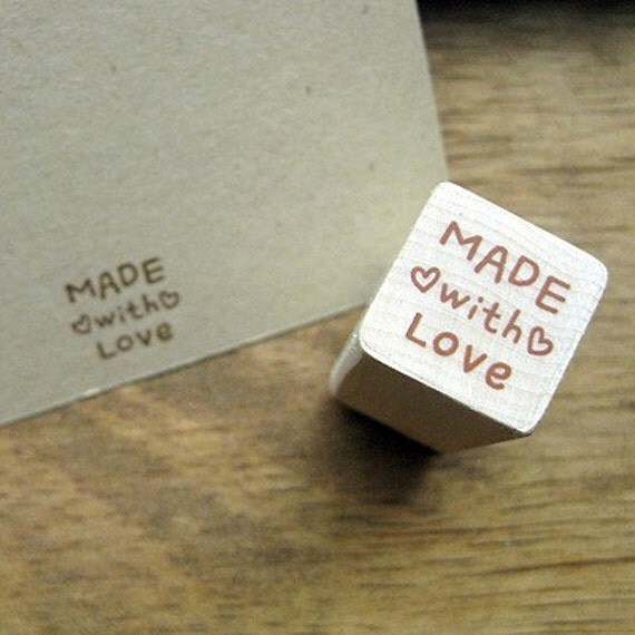 """Small Stamp """"Made with LOVE"""", U2360"""
