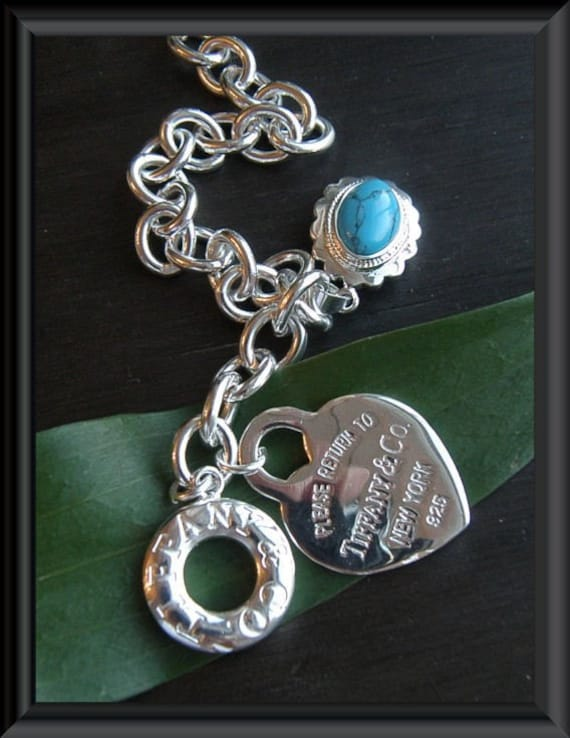 Tiffany and Company Sterling Silver 925 Link Toggle Bracelet