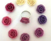 Purple Adjustable Rose Ring