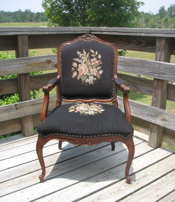 Antique French Louis XV Fauteuil or Armchair by Shabby Home Furniture at Etsy