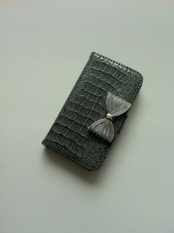 Patent leather folder style Iphone case for Iphone 4/4S