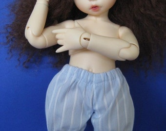 Blue striped panties / bloomers for Littlefee or other Yo SD sized doll